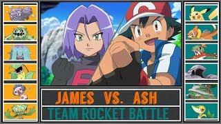 Ash Vs. James (Pokémon Sun/Moon)   Team Rocket Battle