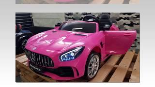 elektrische kinderauto mercedes gtr amg roze 2 persoons 12v 2.4g kinderauto winkel