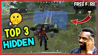 😱 Top 3 New Hidden Places In Free Fire - You Don't Know - Techno Banda