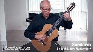 Sundown by John L. Wes Montgomery - Danish Guitar Performance - Soren Madsen