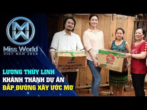 Hoa hậu Lương Thuỳ Linh khánh thành dự án Đắp đường xây ước mơ