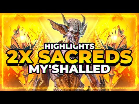 2x Sacred Higlights! CRAZY Pulls! | RAID Shadow Legends