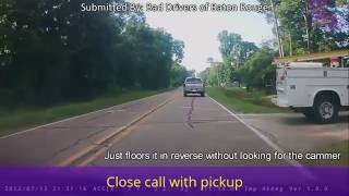Close Call with Work Truck - Bad Drivers of Baton Rouge
