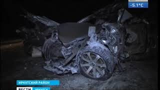 Военный БТР и Lexus столкнулись ночью в Иркутском районе  Водитель автомобиля погиб