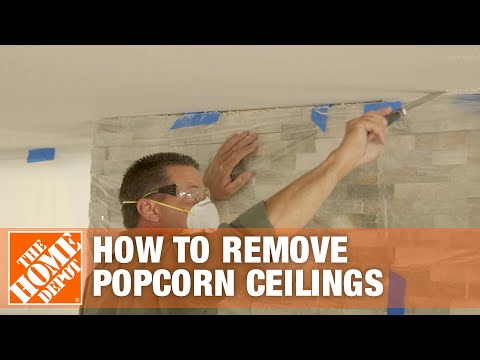 How to Remove Popcorn Ceilings