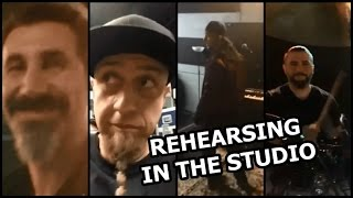 System of a Down rehearsing in the studio (May 16, 2017)
