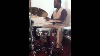 Drum solo Inside Out Gospel song part 2 of 3 Middle of Song