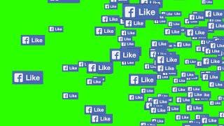 Facebook Likes #1 [Fundo Verde - Green Screen]