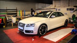 Audi S5 Satin Pearl White Wrap