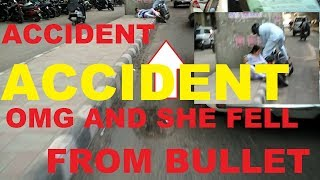 BULLET ACCIDENT- SHE FELL - My Daily observation- Vlog 01 - ROYAL ENFIELD CLASSIC 350 - DELHI