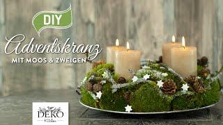 DIY: Adventskranz aus Naturmaterial mit Moos & Zweigen [How to] Deko Kitchen