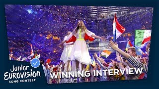 Winning interview with Roksana Węgiel from Poland - Junior Eurovision Song Contest 2018