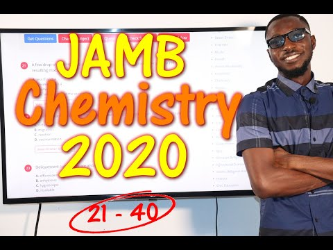 JAMB CBT Chemistry 2020 Past Questions 21 - 40