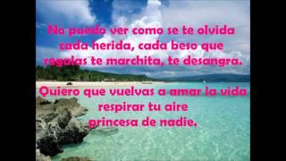 Princesa de nadie - Pablo López (Letra)
