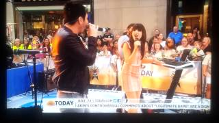 Owl City & Carly Rae Jepsen - Good Time - Live on Today Show 8.23.2012