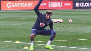 Brazil & Neymar Train In England Ahead Of Uruguay Friendly