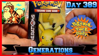 Pokemon Pack Daily Generations Booster Opening Day 389 - Featuring Aries Fire Tiger