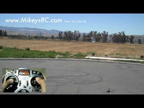 Learn to fly 6 channel 450 helicopter Watch my thumbs