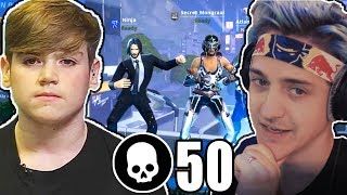 Mongraal & Ninja squad For The First Time Ever! (50 Kills Squad)