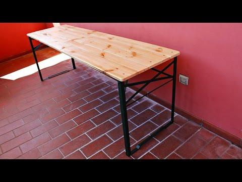 Come realizzare un tavolo pieghevole fai da te mania - Tavolo a muro fai da te ...
