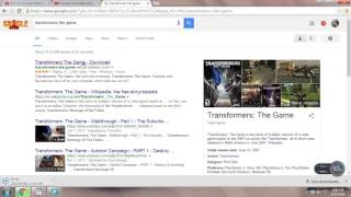 How to download Transformers The Game Directly from Internet width=