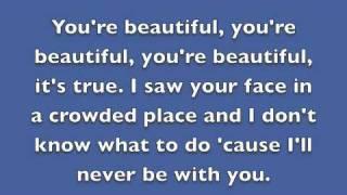 You're Beautiful By James Blunt Lyrics