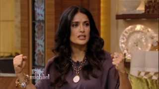 "Salma Hayek Pinault ""Picks Up"" Michael Strahan on ""LIVE with Kelly and Michael"""