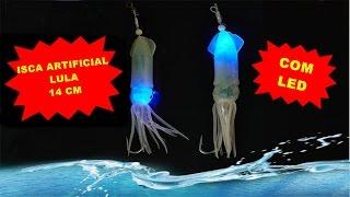 Isca Artificial LULA 14 cm Fluorecente + LED Produto de Excelente Qualidade e Desempenho
