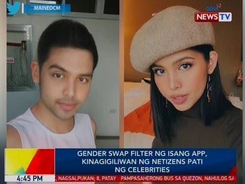 Gender swap filter ng isang app, kinagigiliwan ng netizens