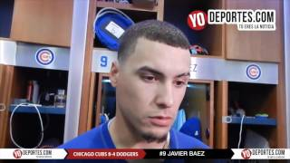 Javier Baez inspirado por su hermana y se roba el home a Los Dodgers