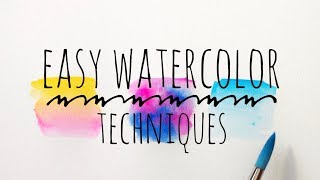 Blending Watercolor Techniques For Beginners