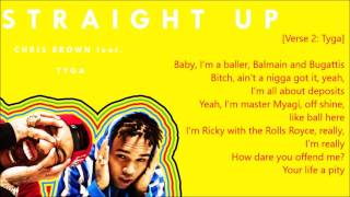 Chris Brown - Straight Up (Lyrics) feat. Tyga