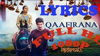 #ShoonyaChitraCreations QAAFIRAANA SA HAI LYRICS Video 1080p FULL SONG Arijit Singh | Nikita Gandhi