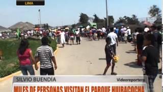 Miles de personas visitan el parque Huiracocha