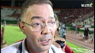 Le président de la FRMF, Fouzi Lekjaa, tout en émoi sur la pelouse du stade Félix Houphouët-Boigny