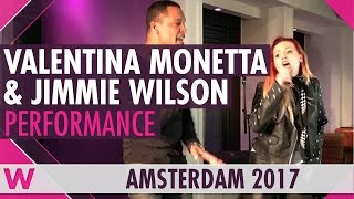 "Valentina Monetta & Jimmie Wilson ""Spirit of the Night"" @ Eurovision in Concert 2017 Welcome Party"