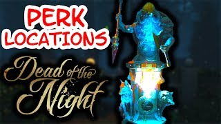 ALL PERK LOCATIONS IN DEAD OF THE NIGHT (Call of Duty Black ops 4 Zombies)
