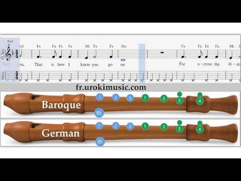 Jouer le thème de Titanic à la flûte