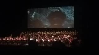 Lord of the Rings: Two Towers Live Concert Helm's Deep Theoden Charging Out Scene