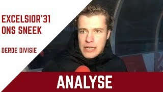 Screenshot van video Analyse Excelsior'31 - ONS Sneek met Jasper Groothuis