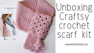 Unboxing - Craftsy.com - Vintage Scarf Crochet Kit