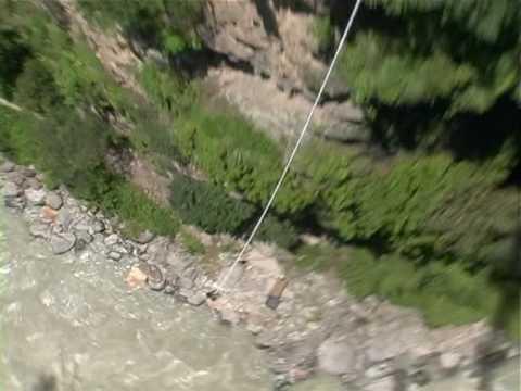Krystal's Bungee Jump in Nepal