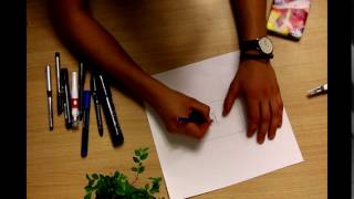Drawing with pencil on a paper sound effect