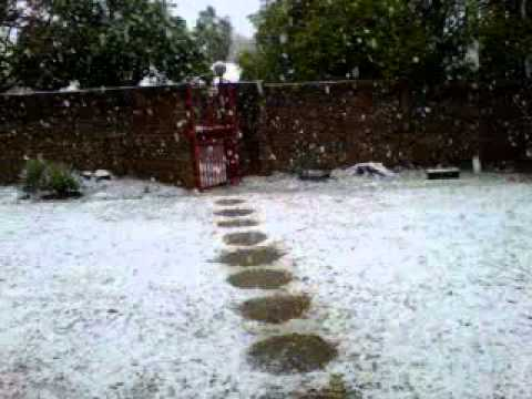 Snow in Newcastle, South Africa