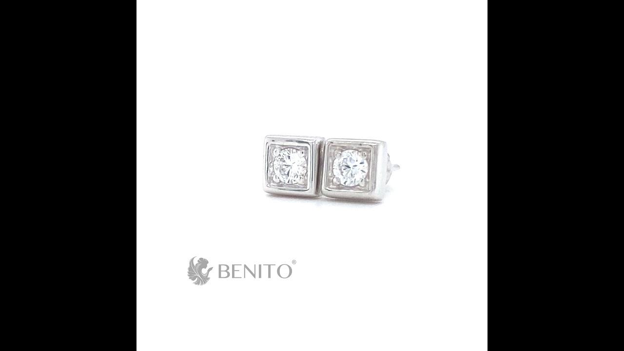 Tina Stud Earrings White Zircon Stones