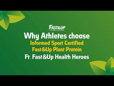 Why Athletes Choose Informed Sport Certified Fast&Up Plant Protein