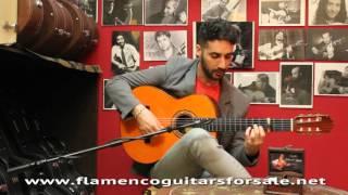 Antonio Sánchez plays the Ricardo Sanchis Carpio 1ª F. Extra 1992 flamenco guitar for sale