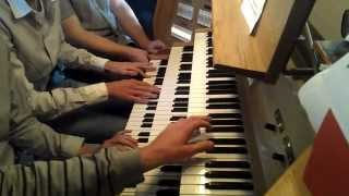 epic sax guy organ cover with 5 persons