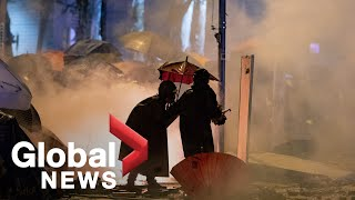 Hong Kong protests: Parents, youth march against tear gas