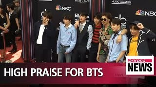 President Moon congratulates BTS on topping Billboard 200 chart